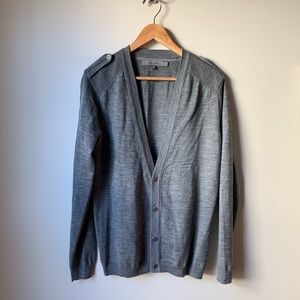 Reiss Capped Sleeve Button Down Cardigan